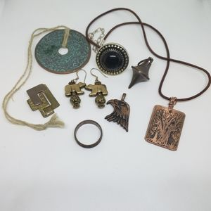 Bundle Mixed Metal Abstract Native Tribal Jewelry
